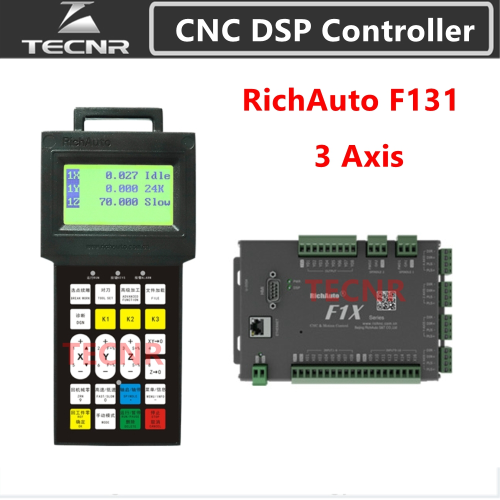 TECNR RichAuto DSP F131  3 Axis Motion Control System CNC DSP Controller Replace A11 B51 For Cnc Engraver