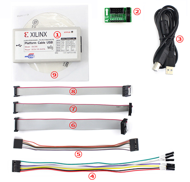 US $38 71 12% OFF|Xilinx Platform Cable USB FPGA/CPLD JTAG DLC9G In circuit  Configuration and Pogramming XILINX Programmer & Debugger-in Demo Board