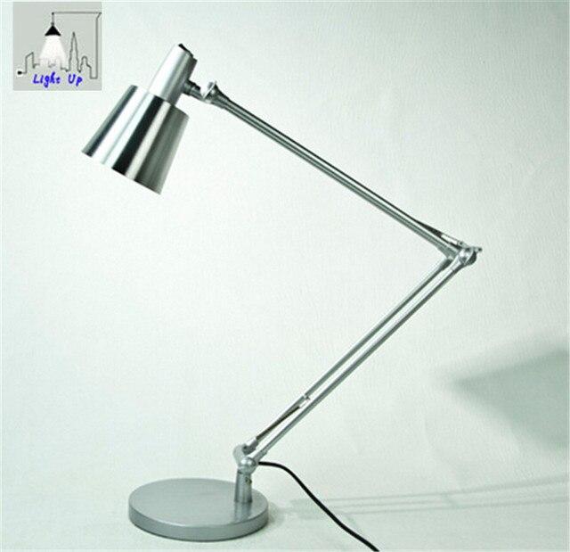 hot sale aluminum alloy foldable led table lamp lampara led escritorio e27 AC 110v 220v N1159