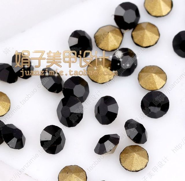Black pointed bottom drilling rhinestone pasted diy accessories measurement