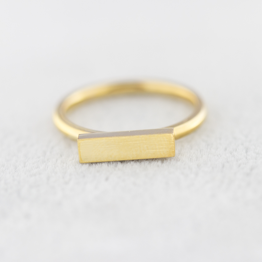 2017 New BFF Minimal Thin Cubic Bar Rings For Women Men's Boho Jewelry Stainless Steel Gold Silver Color Ring Friendship Gifts