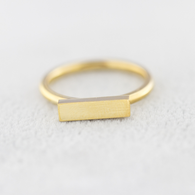 2017 New BFF Minimal Thin Cubic Bar Rings For Women Men's Boho Jewelry Stainless