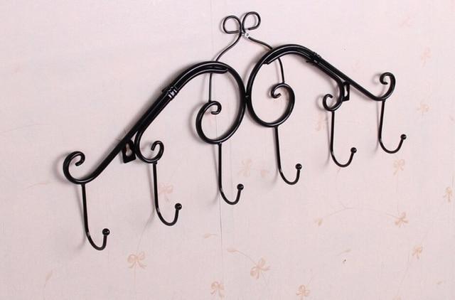 Antique Creative White Black Decorative Metal Wall Hooks In Over Door Coat Hanger Hook Eco