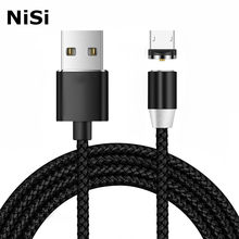 1m 2.1A NiSi Micro USB Magnetic Cable for Xiaomi Samsung Galaxy Note6/5/4/3/J3/J5/J7/A3/A5/A7 LG LED Fast Charging Magnet Cable(China)