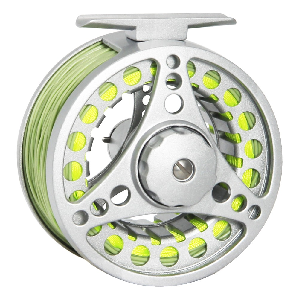 Angler Dream Fly Reel Combo 1/2 3/4 5/6 7/8 WT Fly Fishing Reel With Fly Lines Aluminum Alloy Fishing Reel aluminum alloy fly fishing reel silver 0 30mm 200m