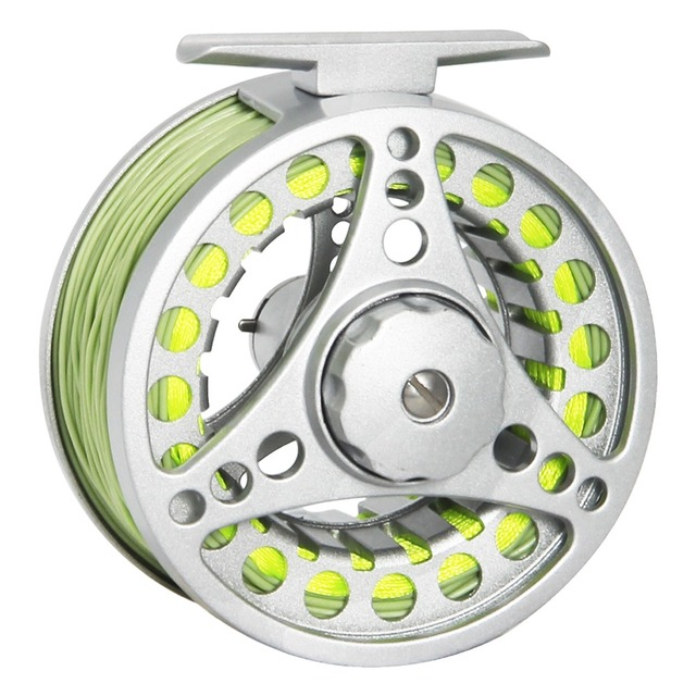 Best Price Angler Dream Fly Reel Combo 1/2 3/4 5/6 7/8 WT Fly Fishing Reel With Fly Lines Aluminum Alloy Fishing Reel