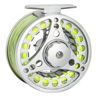 Angler Dream Fly Reel Combo 1/2 3/4 5/6 7/8 WT Fly Fishing Reel With Fly Lines Aluminum Alloy Fishing Reel