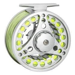 Pescatore Sogno Fly Reel Combo 1/2 3/4 5/6 7/8 PESO Mosca Mulinello Da Pesca Con La Mosca Linee In Lega di Alluminio Bobina di Pesca
