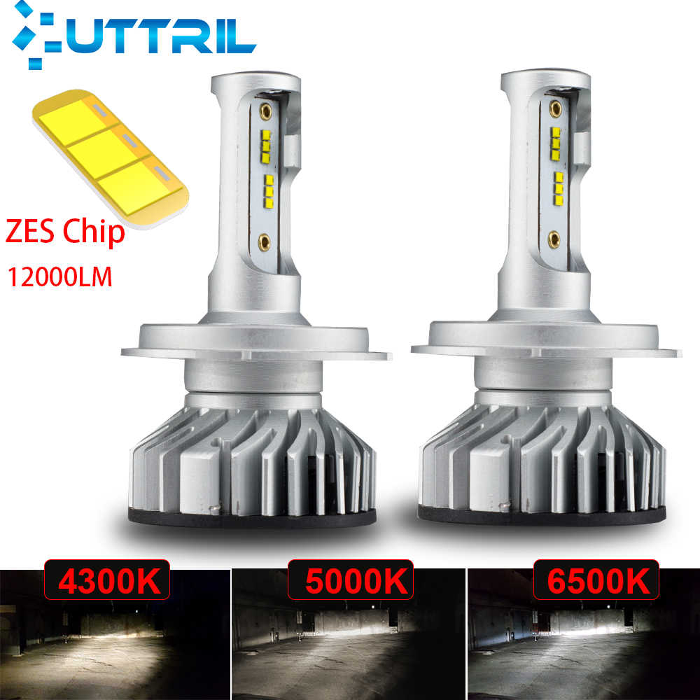 Uttril Car Headlight H4 H7 H1 LED Canbus H11 H8 H9 9004 HB3 9006 HB4 4300K 5000K 6500K LED Lamp 60W 12000LM Auto Headlamp 12V