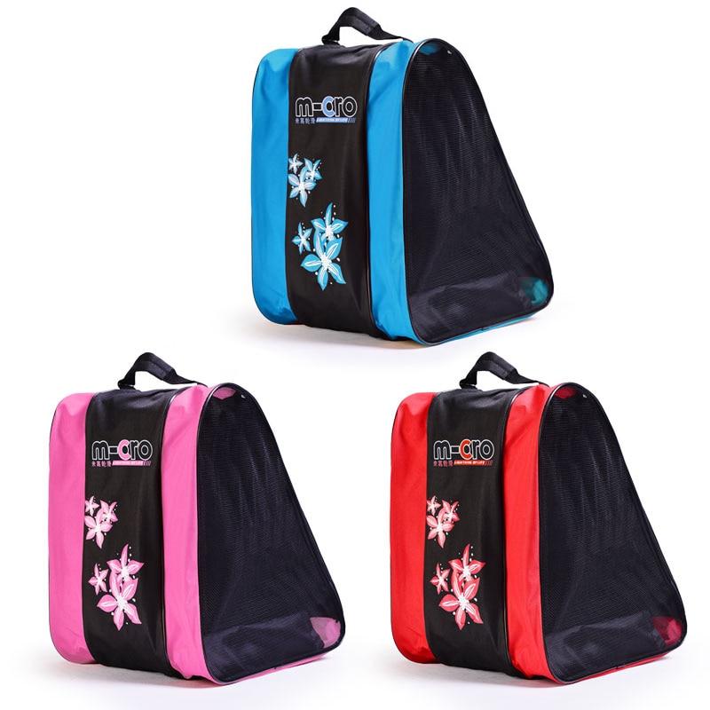 Купить с кэшбэком Quality Mcro Roller Skating Shoes Backpacks Inline Skate Shoes Shoulder Bags/Handbags 3 Colors Available Skateboard Skating Bag