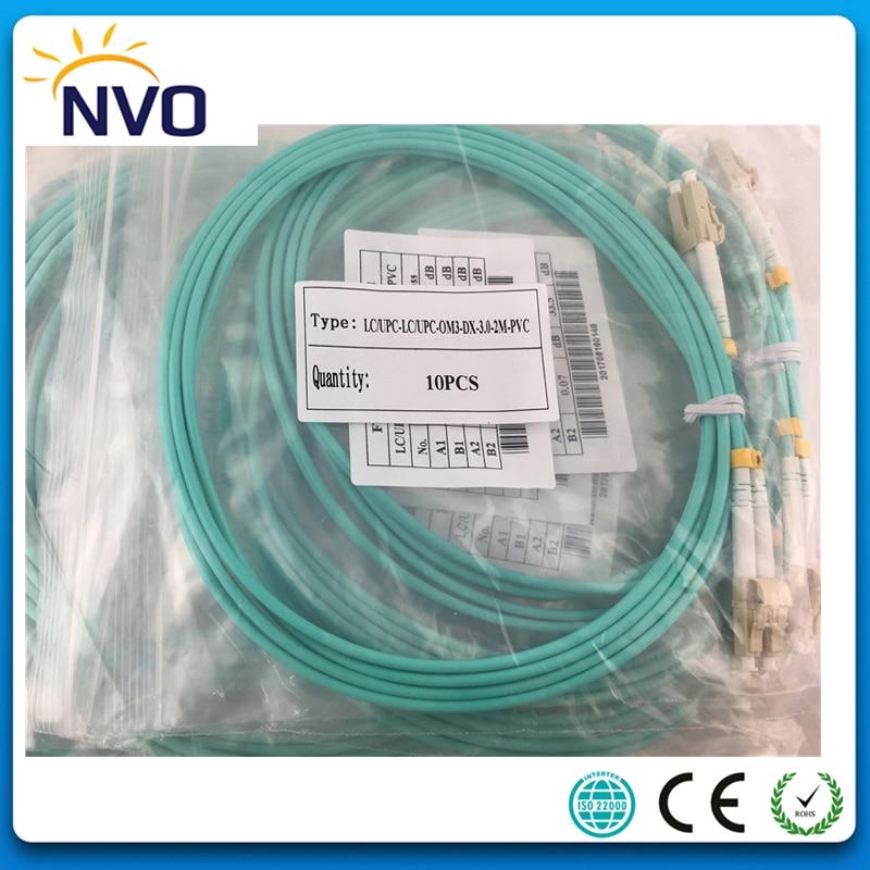 1M LC-SC Duplex 10 Gigabit 50//125 Multimode Fiber Optic Cable OM3 Aqua 10GB