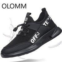 OLOMM новая сетчатая мужская повседневная обувь Lac-up легкая мужская обувь удобные дышащие прогулочные теннисные кроссовки Feminino Zapatos