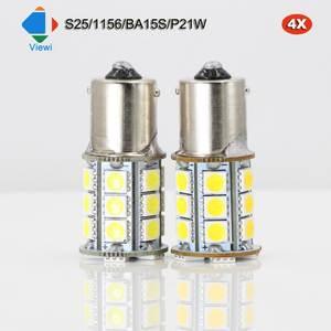 viewi 12 v 24 v 24 leds reverse lamp drl car tail bulb auto turn light 5050