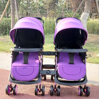Baby stroller, light reclining, sitting, folding, twin stroller, conjoined , detachable baby stroller free shipping