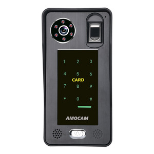 Image 3 - Intercomunicador con huella dactilar RFIC para puerta, 7 pulgadas, inalámbrico/con cable, Wifi, contraseña, vídeo, 1000TVL, cámara, desbloqueo, registro