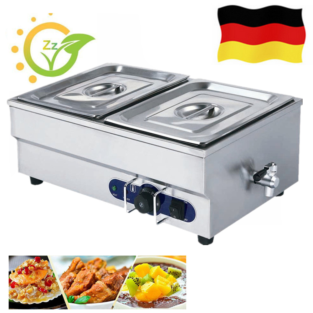 Large Capacity Home Use Food Warmer Equipment Kitchen Bain Marie Wet Heat Catering Tray Keep Warm Tool