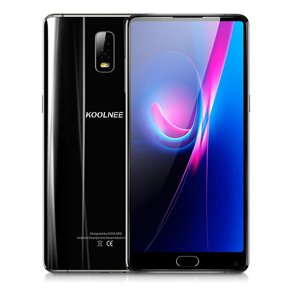 KOOLNEE K1 Trio 4G Phablet 6 GB RAM 128 GB ROM 6.01 Pouce Android 7.1 Octa base 2.0 GHz MTK6763 16.0MP Double Arrière Caméras D'empreintes Digitales
