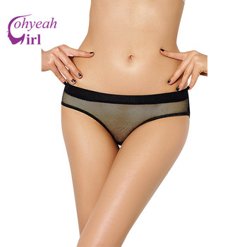 PW5091 Ohyeahgirl Hot blackred open crotch panties erotic design fishnet transparent panties hollow out sexy lingerie women sexy panti