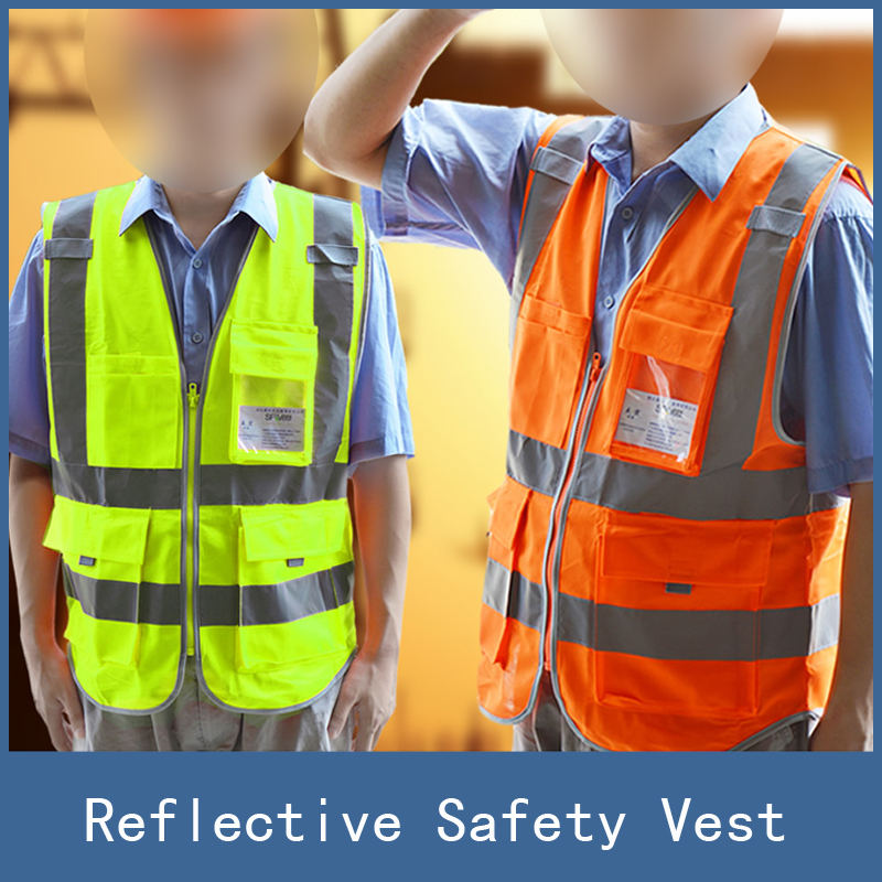 New High Visibility Reflective Safety Vest , Chaleco Reflectante Amarillo Polyester Lote Seguridad for Dark Night Working safety clothing chaleco reflectante 360 degrees high visibility neon belt running cycling sports outdoor clothes reflective vest