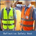 Novo Colete de Segurança de Alta Visibilidade Reflexiva, Poliéster Lote Seguridad Chaleco Reflectante Amarillo para Noite Escura de Trabalho