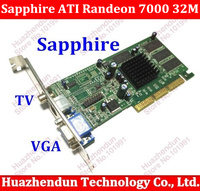 Venda quente Sapphire new ATI Randeon 7000 32 M SDRAM VGA/TVO/AV PLACA de vídeo AGP 1 pçs/lote placa de vídeo placa gráfica