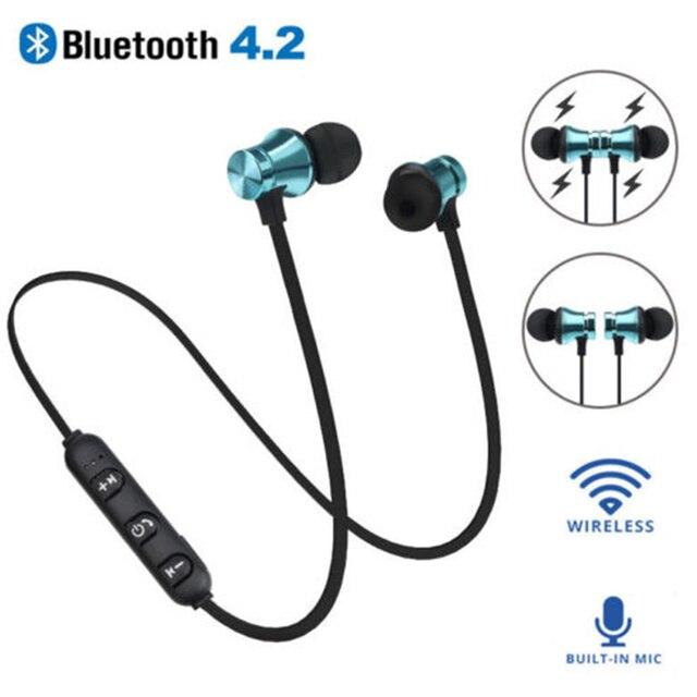 4 цвета магнитная музыка Bluetooth 4,2 наушники XT11 Спортивная Беспроводная bluetooth-гарнитура с микрофоном для IPhone samsung