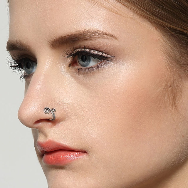 Dark Dream 925 Sterling Silver Clip Earrings Cuff Jewellery for Women Nose Hot Sale Wholesale Free Shipping
