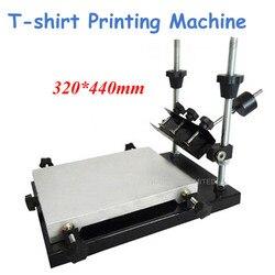 Pojedynczy kolor drukarka sitowa 32*44cm obszar drukowania na T shirt płaskie prasa na