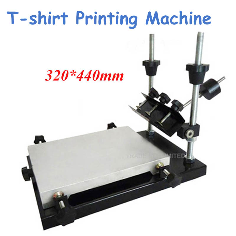 Single Color Screen Printer for T-shirt Flat Press Machine with 320*440mm Printing Area 1pc single color screen printer t shirt screen printing machine 24 30cm flat printing press