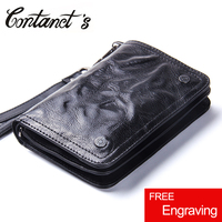 Contacts S Genuine Leather Men Wallets Fashion Coin Purse Photo Holder Short Wallet Designer Brand New