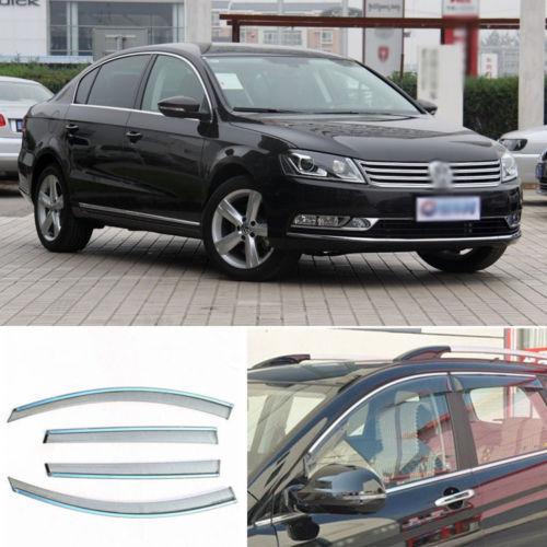 4 pcs Nova Smoked Limpar Janela de Ventilação Da Máscara Viseira Defletores de Vento Para VW Magotan 09