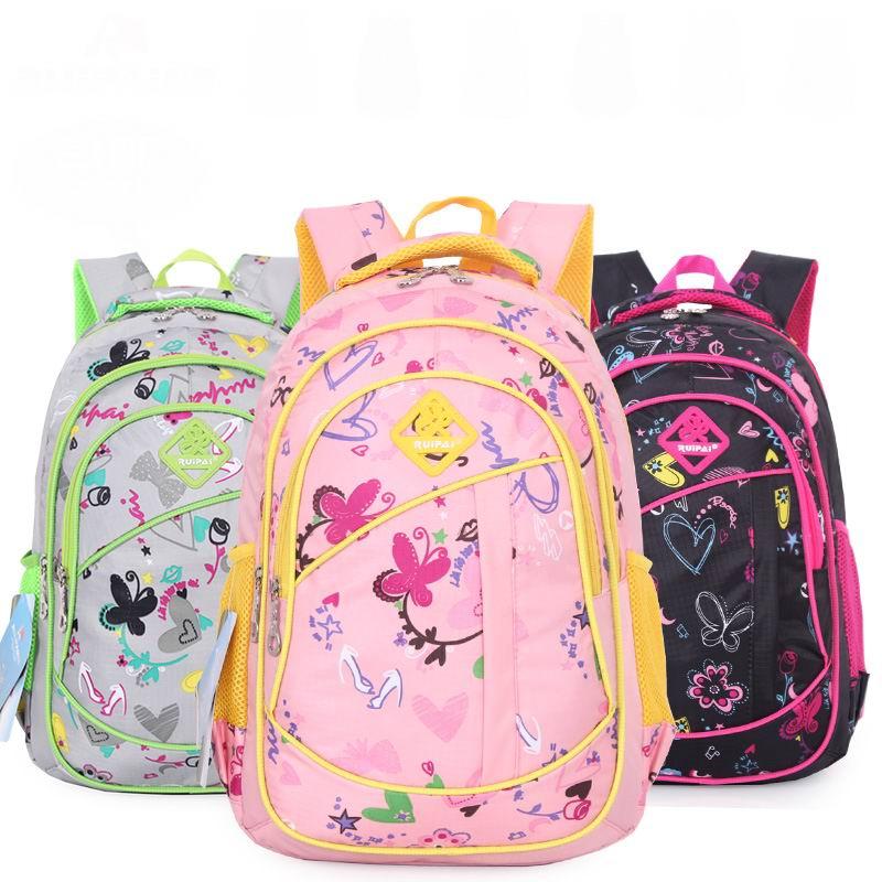 Online Shop Cute Girls Floral Printing Elementary School Bag ...