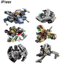 iPiggy One Warship Spaceship Starwars Rogue Microfighters Building Blocks Bricks Compatible All Brand Toys For Kids Christmas(China)