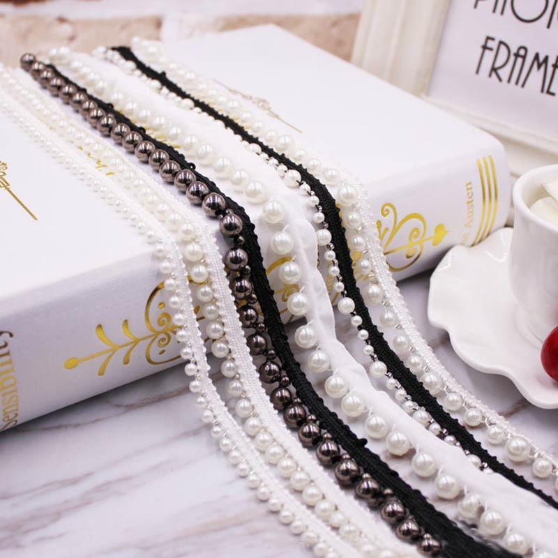 10 metre DIY aksesuarları Inci dantel Şerit püskül pamuk püsküllü kırpma saçak dikiş yatak çarşafı elbise perde dekorasyonu