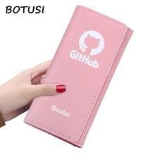 BOTUSI New Fashion Female Coins Cute Wallet Ladies Women Long Wallets Hasp Purse Card Holder High Quality Bolsa Feminina
