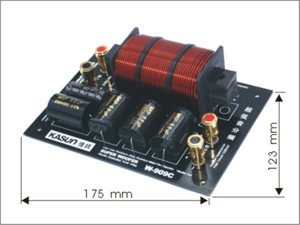 1pcs Crossover W-909C frequency divider filter Ultra-low frequency divider for HIFI amplifer 380W