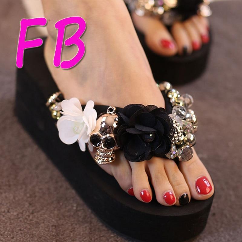 Muffin Thick Crust Women Flip Flops Shoes Female Beach -6808