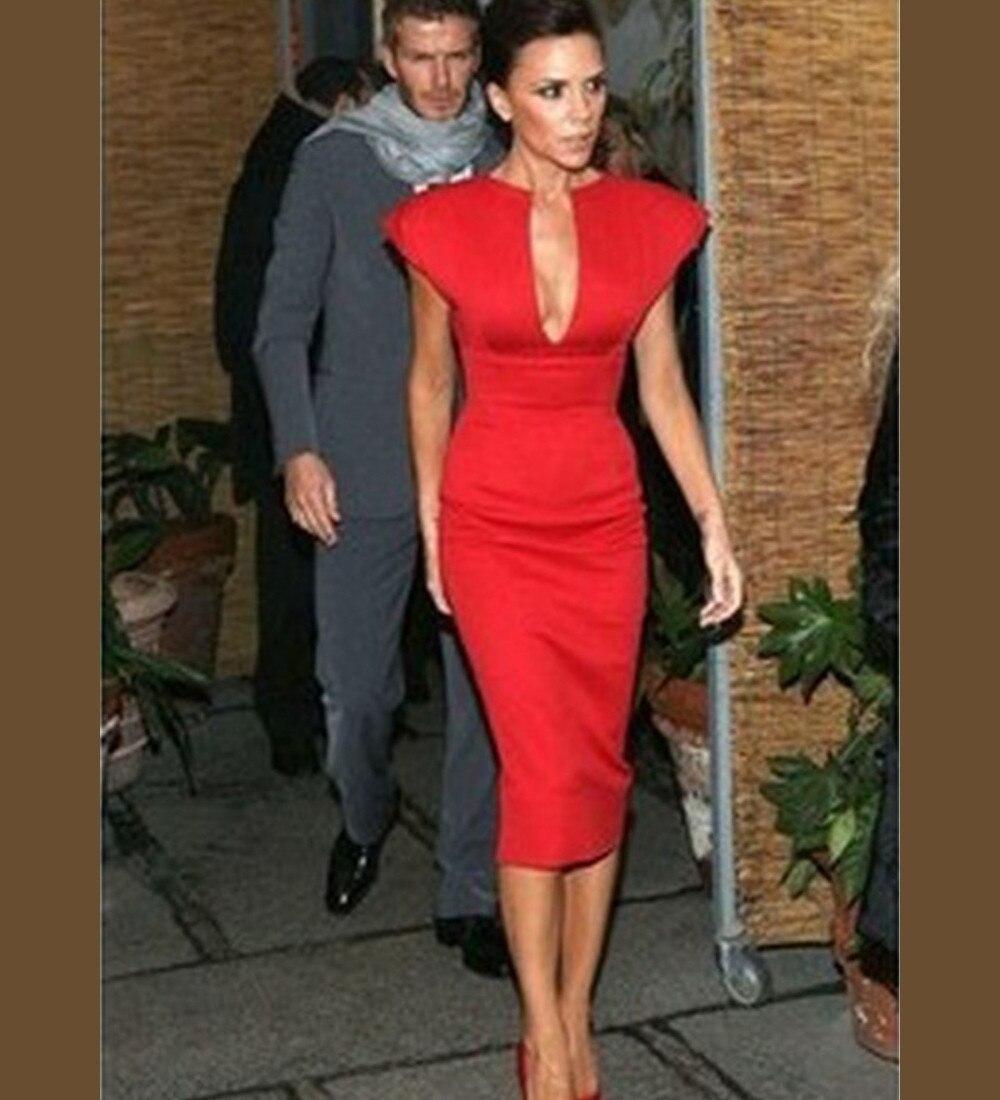 Платье виктории бекхэм красно синее