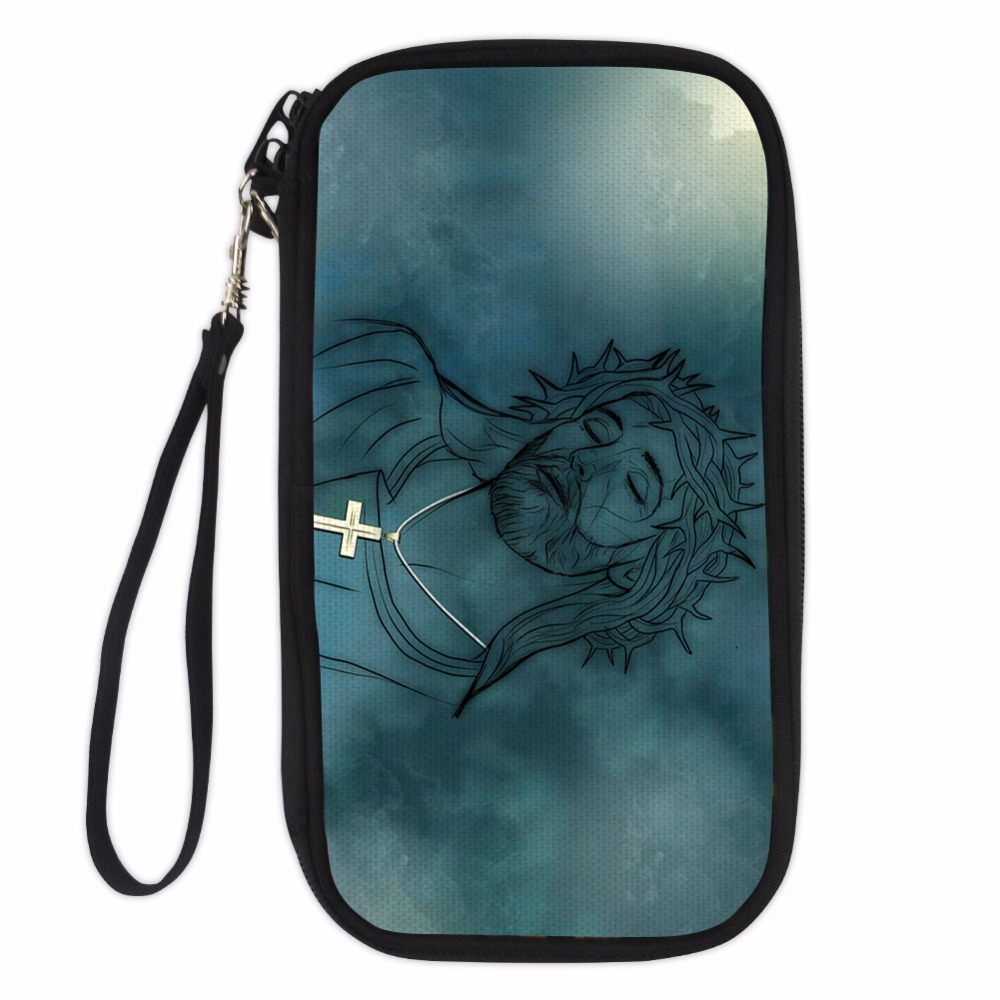 Noisydesigns Travel Passport Wallet Hand Holding Bag Crossbody Bag statue Multifunction Credit Card Package ID Holder Storage