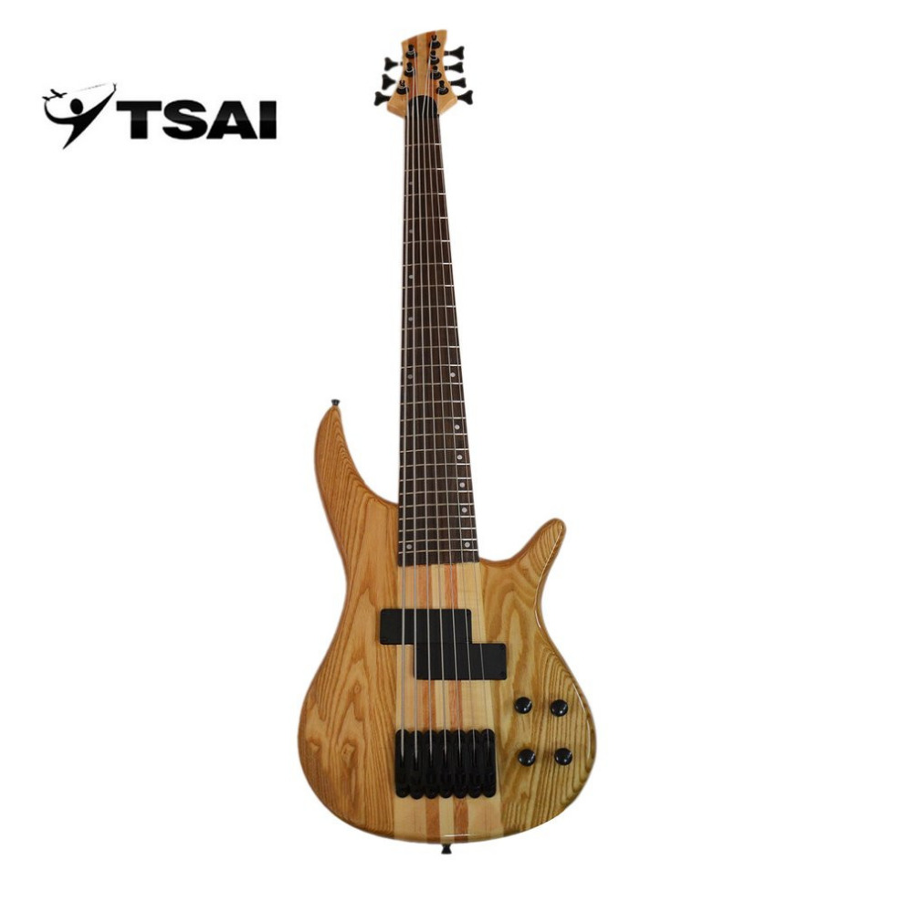 TSAI Shipping from USA Electric Guitar Bass Electric Guitar 7 Strings Music Instrument Solid Wood Northeast China Ash Rosewood afanti music gib es335 style 4 strings bass guitar es335 b27