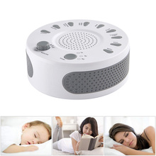 White Noise Baby Sleep Machine Soothers Rechargeable Sleep Helper with Nature Music Sound Machine for Sleep Relax Christmas Gift vontar h9 white noise machine sleep therapy regulator natural for baby sleep snore with usb port adapter