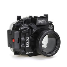Meikon 40m/130ft Underwater Camera Housing For Canon EOS M5 18-55mm Lens Waterproof Bags Case