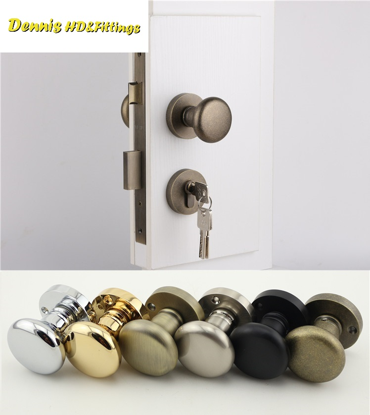 American Style Mortise Interior Door Lock Set Reversal Rosette Kit 35-50mm door thickness door mortise lock set olive design single sided door thickness 35 50mm escaping