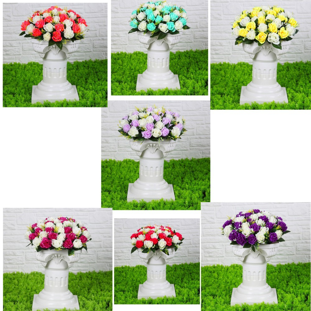 Wedding Flower Pillars: Party Road Lead Wedding Roman Column Roman Pillars With