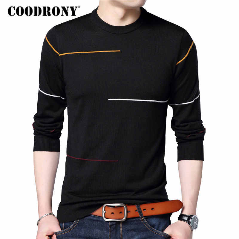 COODRONY Cashmere Wool Sweater Men Brand Clothing 2019 Autumn Winter New Arrival Slim Warm Sweaters O-Neck Pullover Men Top 7137