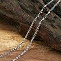 2mm horóscopos collar salvaje sección larga 100% Real 925 joyería de Plata Esterlina mujeres colgante de Collar de Cadena de los hombres collar GN1