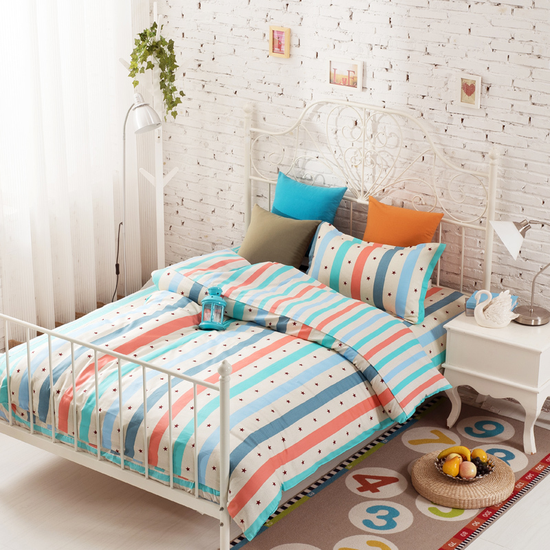 bedding sets twin comforter set high quality sheets striped bedding