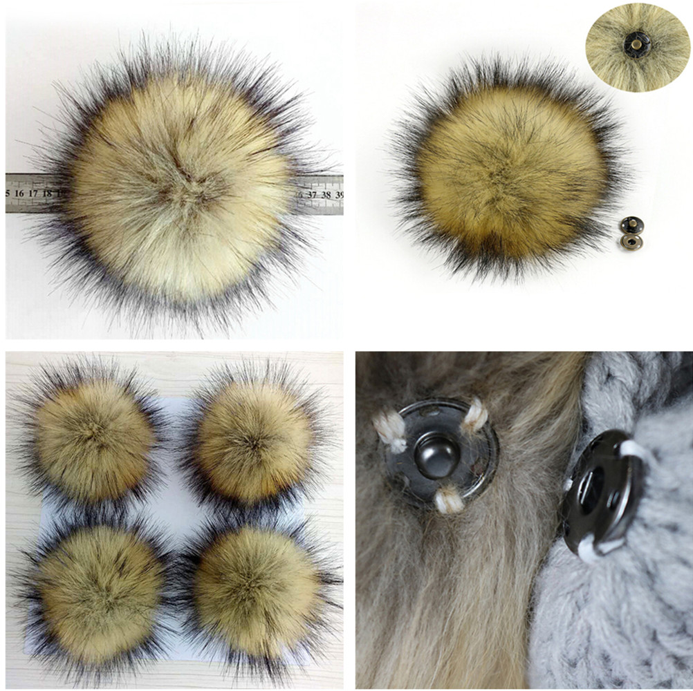 1 Pcs Unisex Women Men Faux Fake Fur Hair Ball Fluffy Pompom Hat Clothing Bag Shoes Cap Accessories Decoration