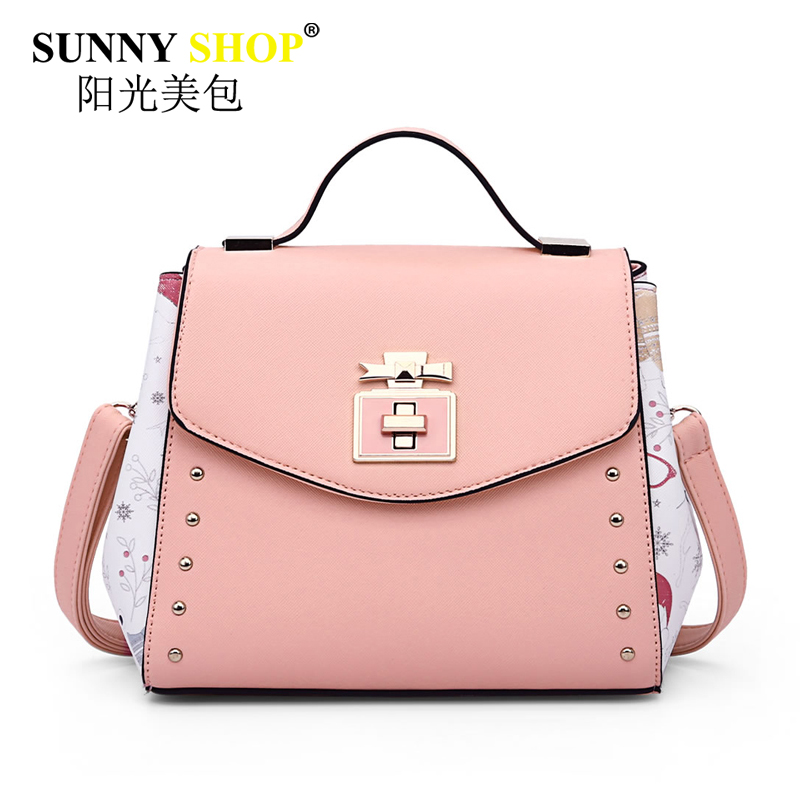 luxury handbags women bags designer pink shoulder messenger bag high quality pu leather crossbody bags for women 2017 sac MB02 fido dido designer handbags high quality nylon women shoulder bags large capacity women messenger crossbody bags