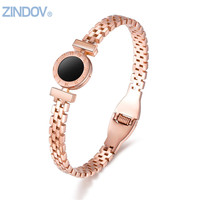 New Women Bangles Bracelets Stainless Steel Gold Plated Rose Gold White Silver Fine Costume Jewellery Wedding